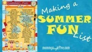 Summer Fun List for Kids