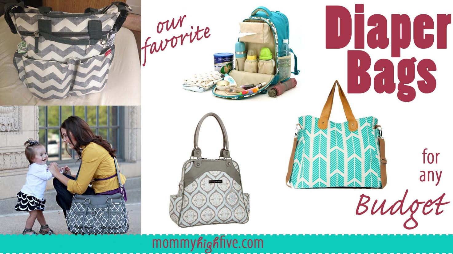 5 Good Designer Diaper Bags for all Budgets