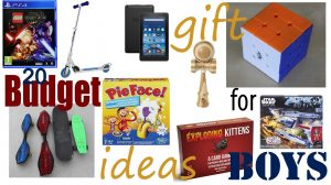 Good Budget Christmas and Birthday Gift Ideas for Boys