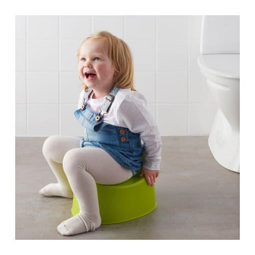 Ikea Lilla Children's Green Potty Toddler Toilet