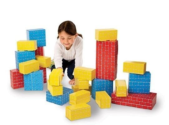 Melissa & Doug Extra-Thick Cardboard Building Blocks