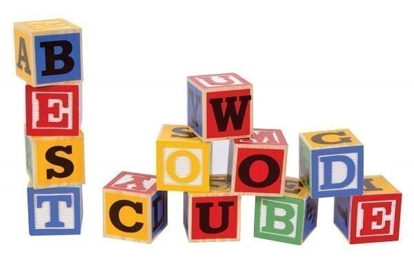 Schylling ABC Big Blocks Wood Blocks