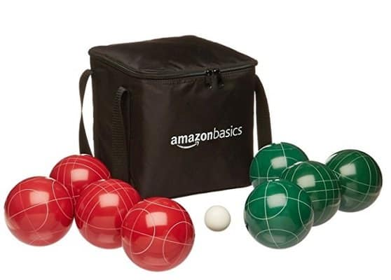 Amazon Basics Bocce Ball Set with Carrying Case