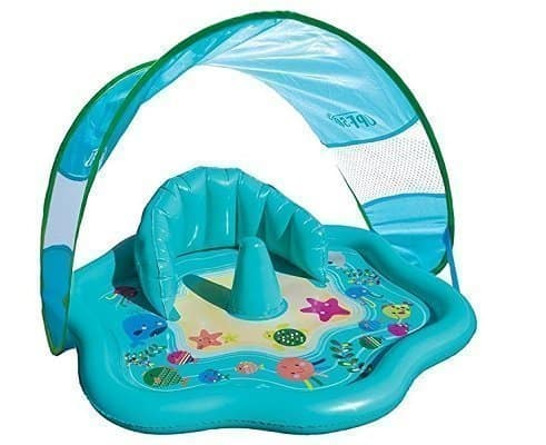 SwimSchool Beach Baby Splash Mat with Canopy