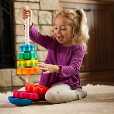Fat Brain Toys Kids Spinagain Toy for 1-Year-Old Girls
