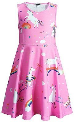 Jxstar Girls Unicorn Dress,Maxi Dress,Hoodie,Mermaid Dress,Headband