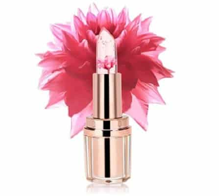 PrettyDiva Jelly Flower Lipstick Barbie Pink Mood Color Changing Lipstick Moisturizer