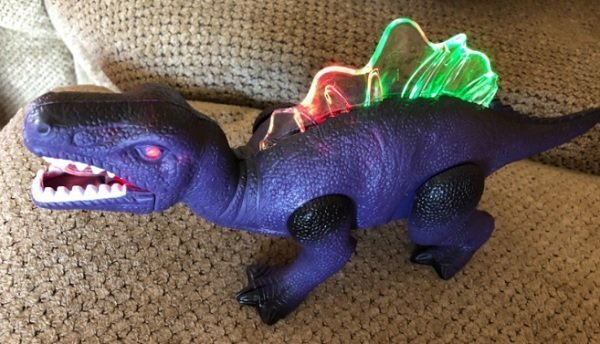 Windy City Novelties LED Light Up and Walking Dinosaur