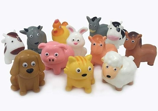 BOLEY (12-Piece) Farm Animal Bath Bucket