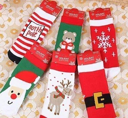 Ehdching 6pairs Kids Cartoon Christmas Socks