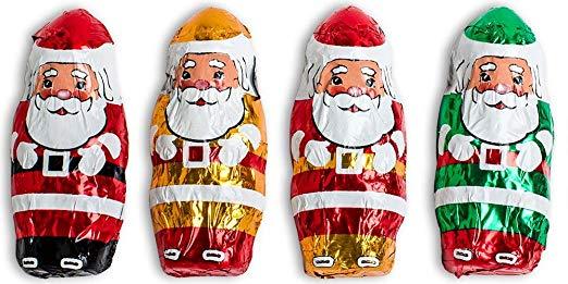 Madelaine Solid Premium Milk Chocolate Mini Santas