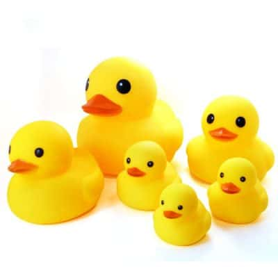 Novelty Place Float & Squeak Six Rubber Duck Family