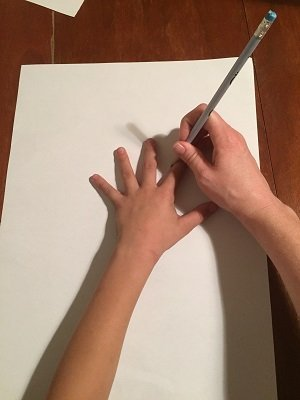 Hand Trace for Thanksgiving Craft