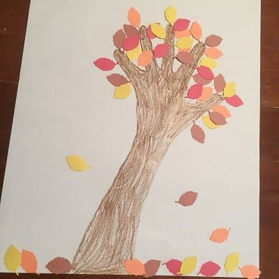 Autumn Tree Craft for Kids