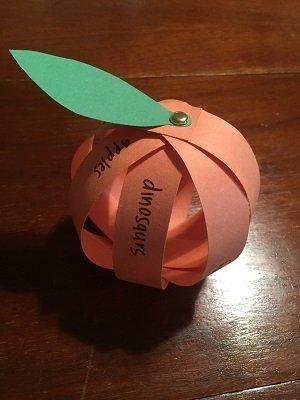 3D Gratitude Pumpkin Craft for Kids
