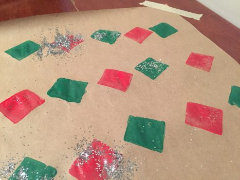 Alternate Patterns and Use Glitter on Craft Paper