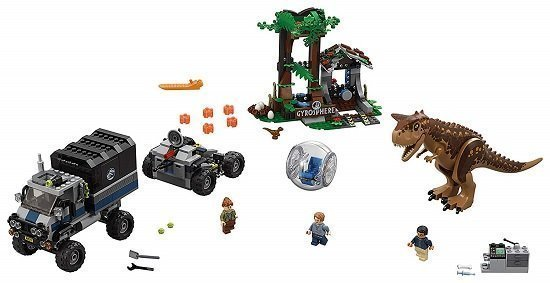 LEGO Jurassic World Carnotaurus Gyrosphere Escape 75929 Building Kit
