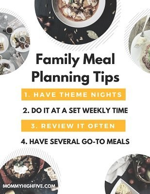 Familiy Meal Planning Tips Downloadable Pdf