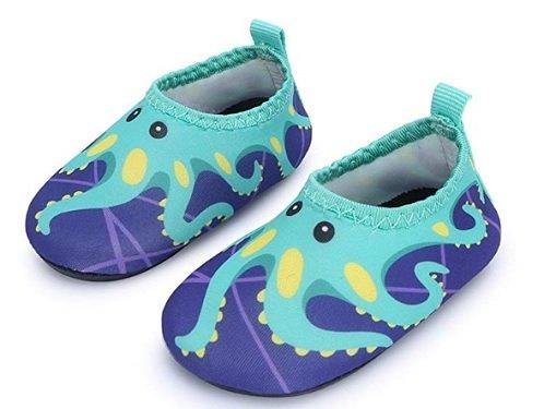 JIASUQI Baby Boys and Girls Barefoot Swim Water Skin Shoes