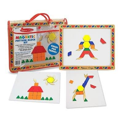 Melissa & Doug Magnetic Pattern Blocks Set