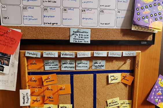 Corkboard and Cards Meal Planning Ideas