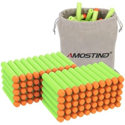 AMOSTING Refill Darts 100PCS Bullet for Nerf N-Strike Elite