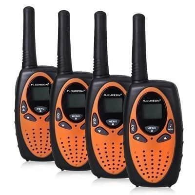 FLOUREON 4 Packs Walkie Talkies Two Way Radios