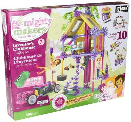 K'NEX MIGHTY MAKERS Inventors Clubhouse Girl's Construction Set