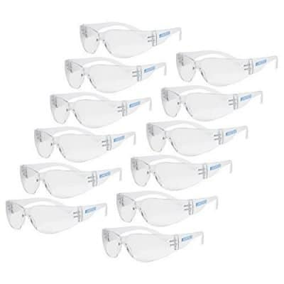 JORESTECH Clear Polycarbonate Impact Resistant Safety Glasses