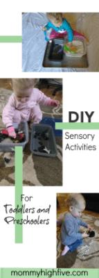 DIY Sensory Activities Preschoolers