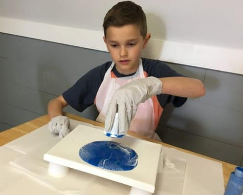 Acrylic Paint Pouring for kids