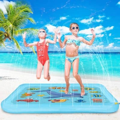 Blasland Splash Pad Sprinkle and Splash Play Mat