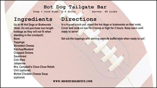 hot dog tailgage bar