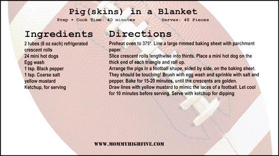 Pigskins in a blanket recipe