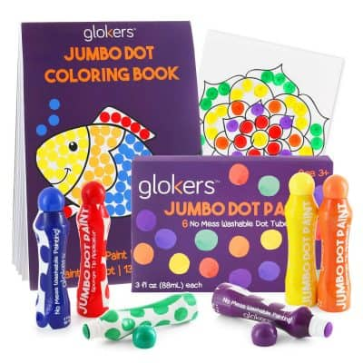 Glokers Dot Paint Markers and Coloring Book