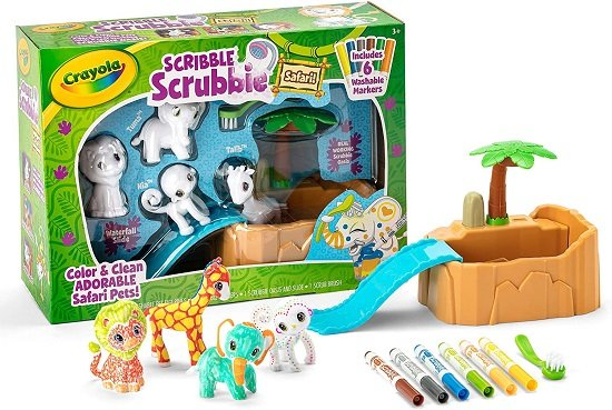 Crayola Scribble Scrubbie Safari Animals Tub Set