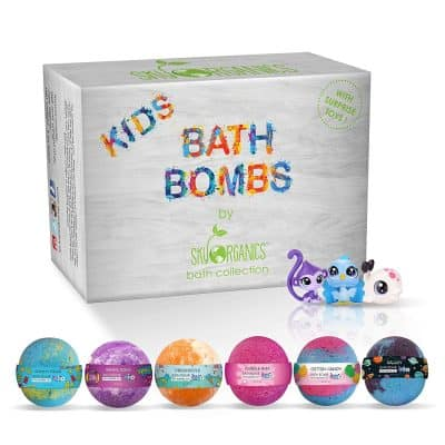 Kids Bath Bombs Set with Surprise Toys Inside