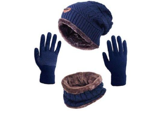 Winter hat, mittens, scarf set