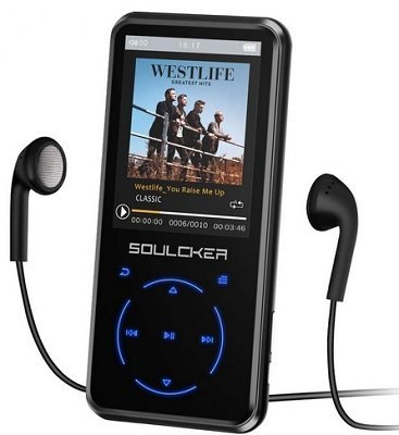Soulcker 16GB MP3 Player with Bluetooth 4.0
