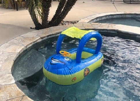 iGeeKid Baby Pool Float with Canopy