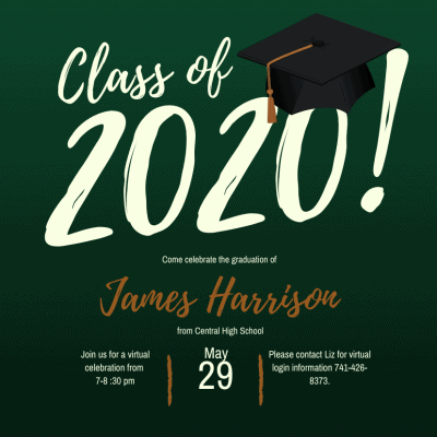 Virtual graduation party invitation