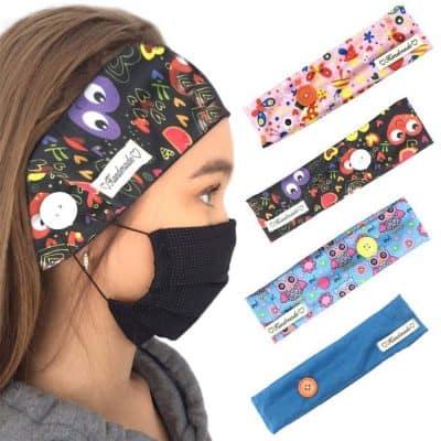 Button Headband Mask Holder