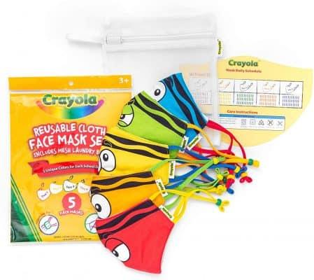 Crayola Kids Face Mask Set of 5
