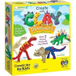 Kids Create with Clay Dinosaurs