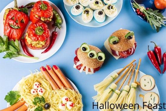 Halloween dinner foods