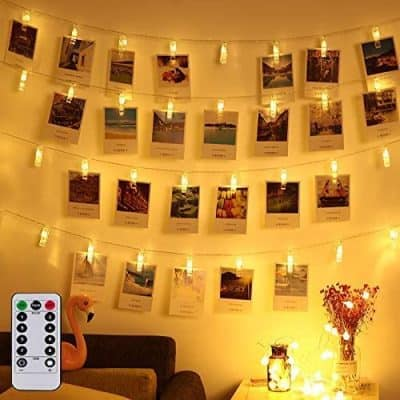 Magnoloran LED Photo String Lights