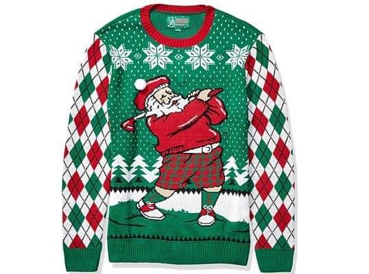 Golfing Santa Sweater