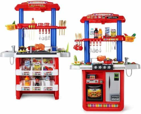 CUTE STONE 2-in-1 Kids Kitchen & Grill