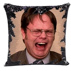 Dwight Shrute Sequin Pillow Cover