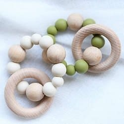 Infant Wooden Teething Rattles